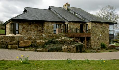New build of a sustainable eco friendly house
