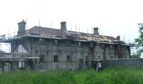 Irish Workhouse Centre Portumna chimney replastering