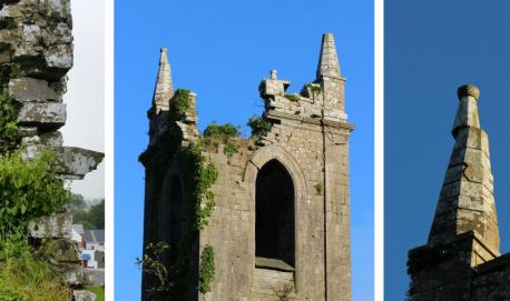 Minor repairs and consolidation of stone work at Monivea Church